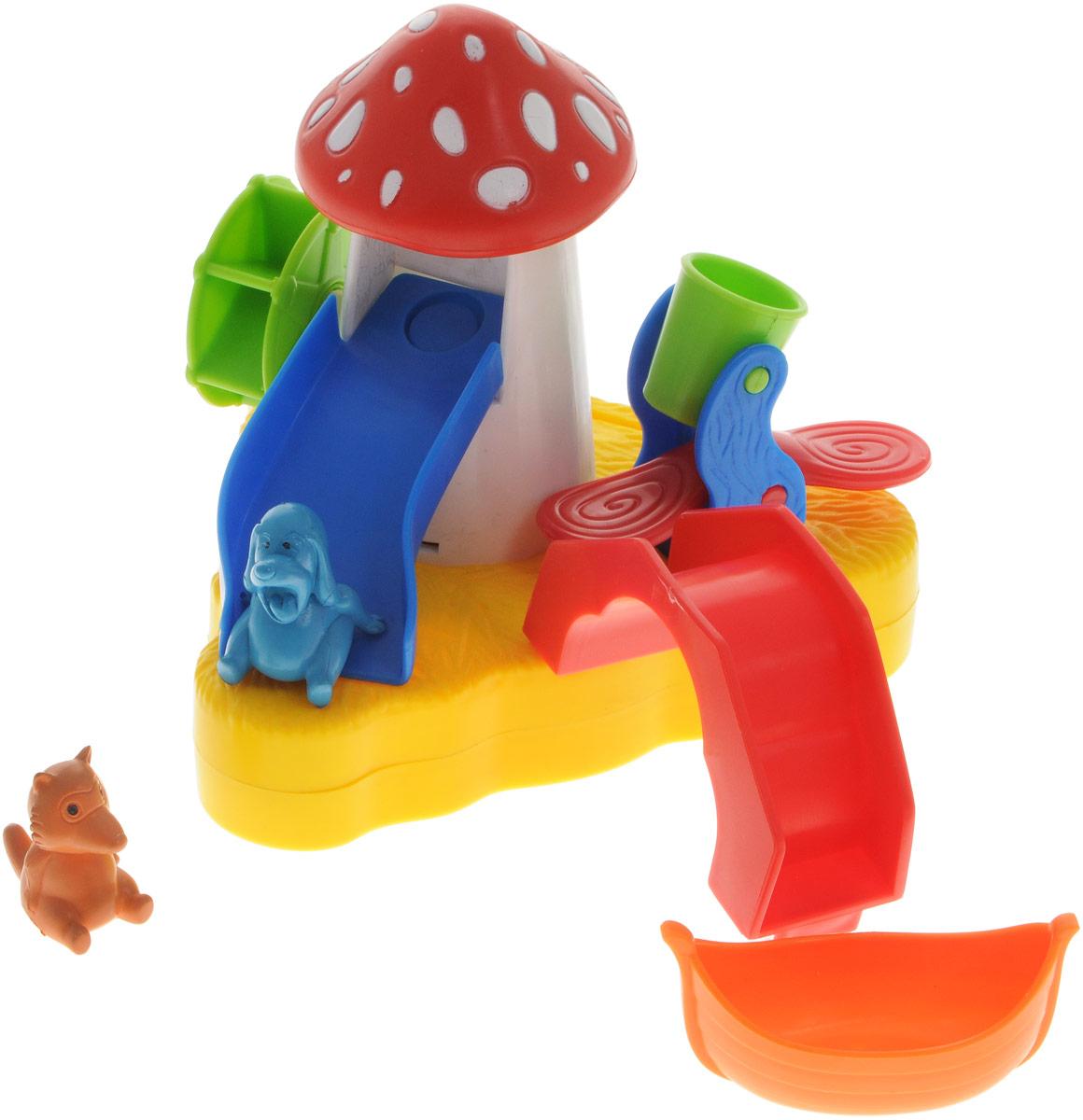 Жирафики Игрушка для ванной Купание с друзьями681117Игрушка для ванной Жирафики Купание с друзьями обязательно порадует вашего малыша и превратит купание в увлекательную игру. Игрушка ярких цветов выполнена из качественных материалов и абсолютно безопасна для малышей. Игрушка предназначена для сюжетно-ролевой игры, развития внимания, координации движений и логического мышления. Игрушка плавает по воде. Лейте воду, чтобы животные скользили, а колесо крутилось и ведерко опрокидывалось.