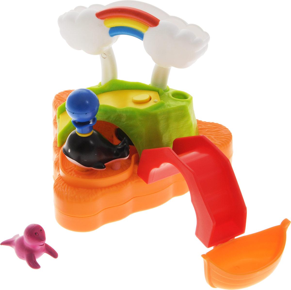 Жирафики Игрушка для ванной Летнее купание681118Игрушка для ванной Жирафики Летнее купание изготовлена из высококачественных материалов, которые совершенно безвредны, не имеют запаха и искусственных красителей. Игрушка поможет увлечь ребенка в процессе купания, особенно если он боится воды. Изделие прекрасно держится на воде. Если нажать на шарик у кита, то брызнет вода. Игра в ванной - это не только весело, но и полезно. Игрушка направлена на развитие внимания, координации движений, цветового восприятия и хватательных рефлексов, а также помогает приучить малыша к купанию.
