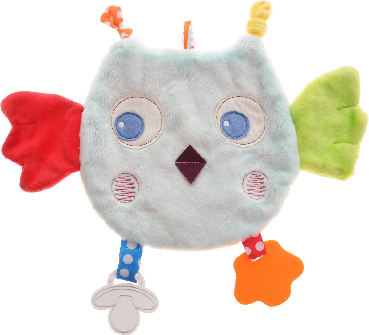 Kaloo Игрушка-комфортер СоваK963333Игрушка-комфортер Kaloo Сова позволит малышу спокойно и сладко уснуть. Особенность игрушки-комфортера состоит в том, что сначала маме необходимо некоторое время подержать игрушку рядом с собой для того, чтобы она впитала материнский запах. После чего игрушку можно дать и малышу. Младенцу будет очень комфортно засыпать с такой игрушкой, она позволит ему быстро успокоиться и сладко заснуть. Со временем комфортер станет не только игрушкой для сна, но и любимым защитником от плохих сновидений и детских страхов. Комфортер выполнен в виде красочного совенка из разных видов материала, что прекрасно будет развивать тактильные ощущения малыша. Оранжевый прорезыватель с шишечками облегчит процесс прорезывания зубок. Изделие изготовлено из качественных и безопасных для здоровья детей материалов, которые не вызывают аллергии. Дизайнеры Kaloo продумывают и придают значение каждому этапу в производстве игрушек, начиная от эскиза и заканчивая упаковкой...