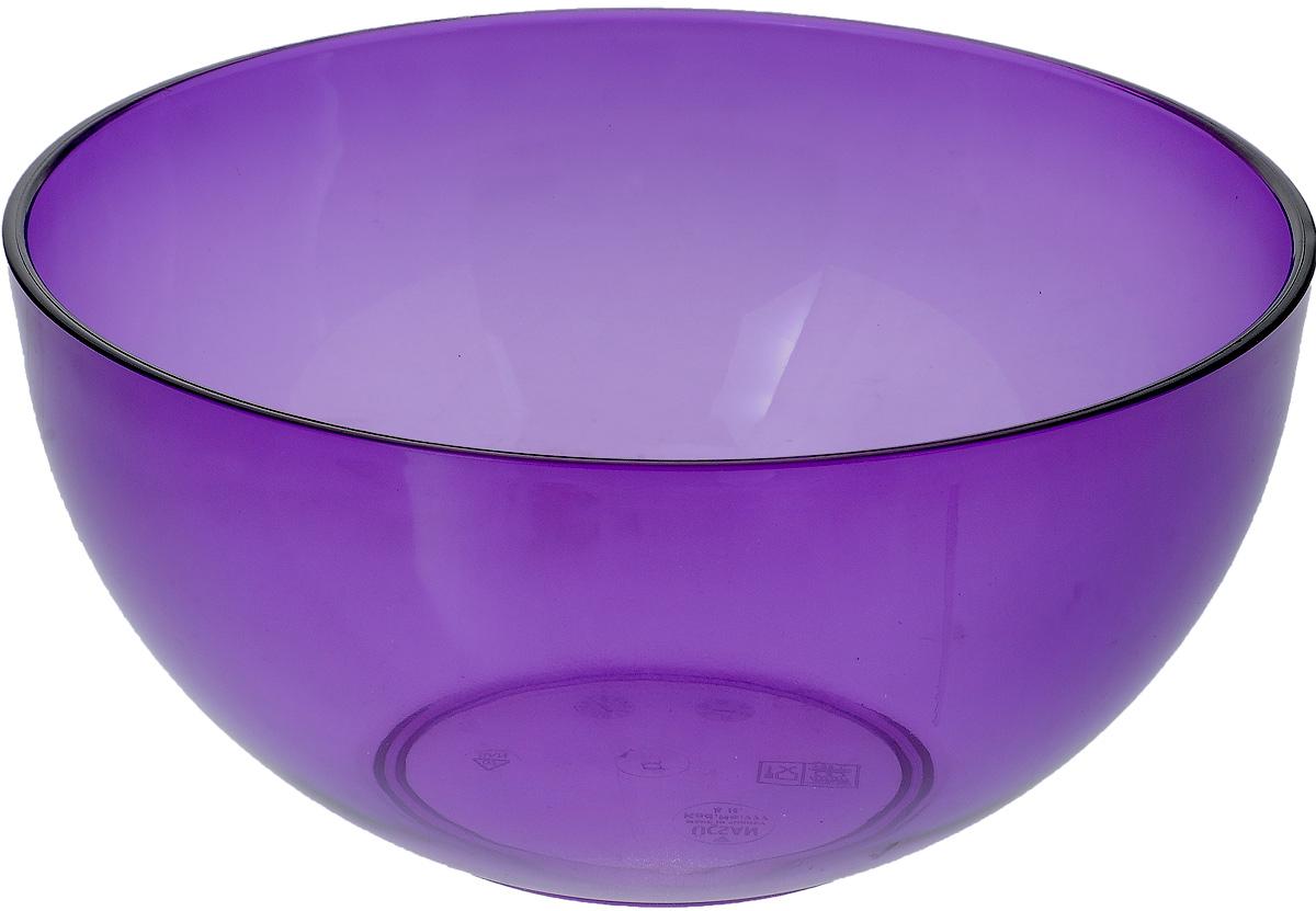 Салатник Ucsan, цвет: фиолетовый, 4 лM-777_фиолетовыйСалатник Ucsan изготовлен из полипропилена и идеально подходит для сервировки стола. Салатник Ucsan не только украсит ваш кухонный стол и подчеркнет прекрасный вкус хозяйки, но и станет отличным подарком. Можно мыть в посудомоечной машине. Диаметр салатника: 24 см. Высота салатника: 12 см. Объем салатника: 4 л.