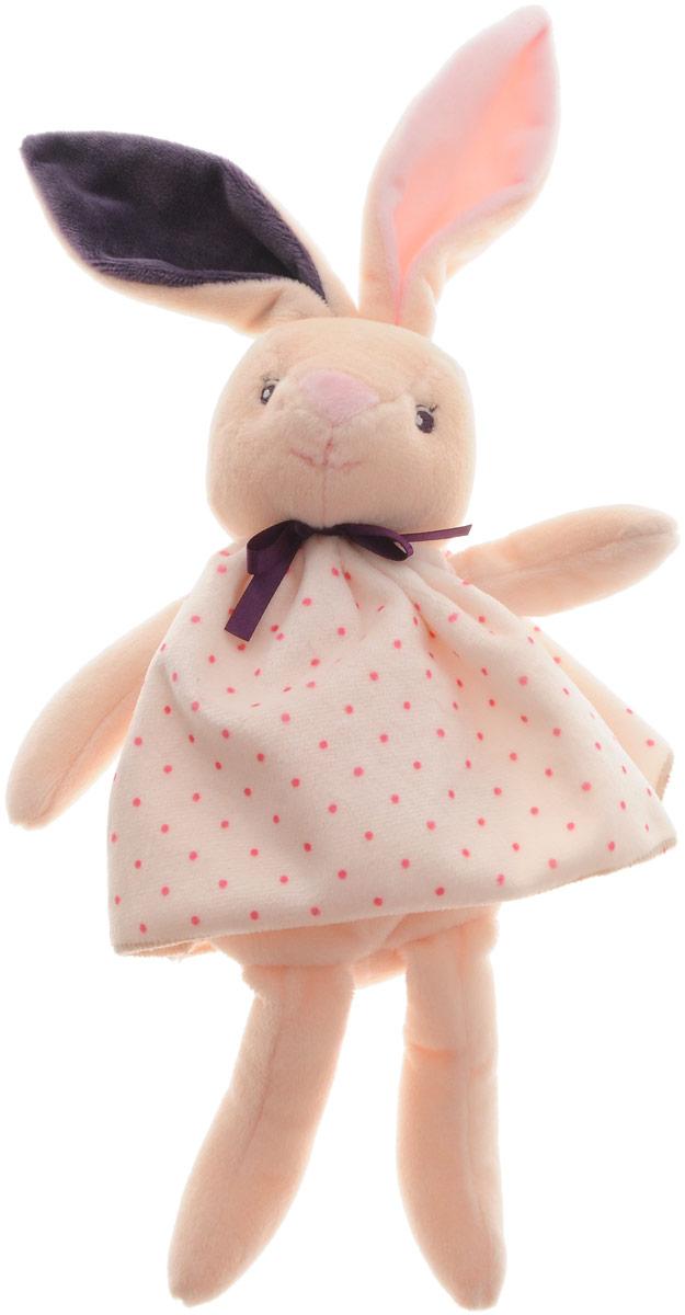 Kaloo Мягкая игрушка Заяц 26 смK969870Мягкий зайчонок в сумочке Kaloo привлечет внимание малыша и надолго станет его постоянным спутником и любимой игрушкой. Зайчик в платьице выполнен из нескольких видов ткани, что прекрасно будет развивать тактильные ощущения малыша. Специальные гранулы, используемые при набивке игрушки, способствуют развитию мелкой моторики рук малыша. Сумочка, входящая в комплект, позволяет брать игрушку с собой на прогулку или в путешествие, чтобы малыш никогда не расставался со своим игрушечным плюшевым другом. Все игрушки Kaloo прошли множественные тесты и соответствуют мировым стандартам безопасности. Именно поэтому все игрушки рекомендованы для детей с рождения, что отличает их от большинства производителей мягких игрушек.