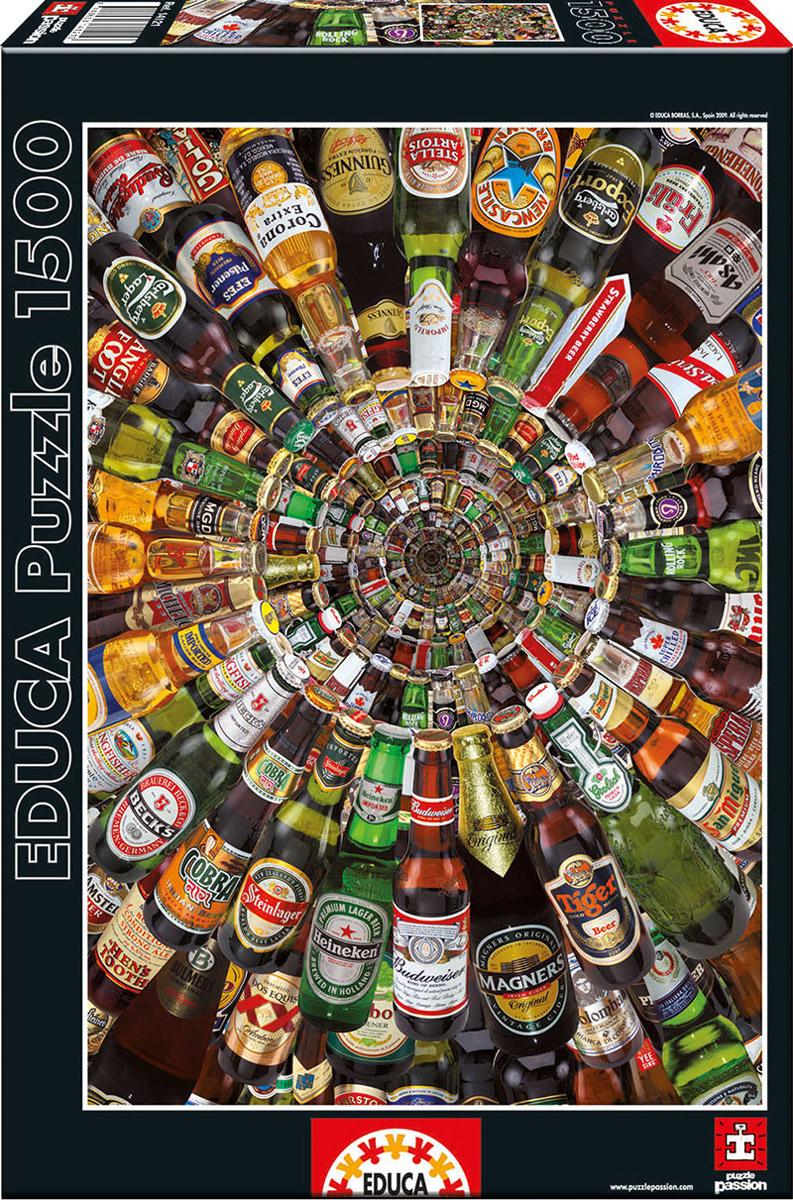 Educa Пазл Пиво14121Собрав пазл Пиво, вы получите целую коллекцию пивных бутылок и, без сомнения, получите массу удовольствия от процесса собирания. Пазл - великолепная игра для семейного досуга, захватывающая не только взрослых, но и детей. Собирание пазла развивает мелкую моторику у ребенка, тренирует наблюдательность, логическое мышление, знакомит с окружающим миром, с цветом и разнообразными формами.