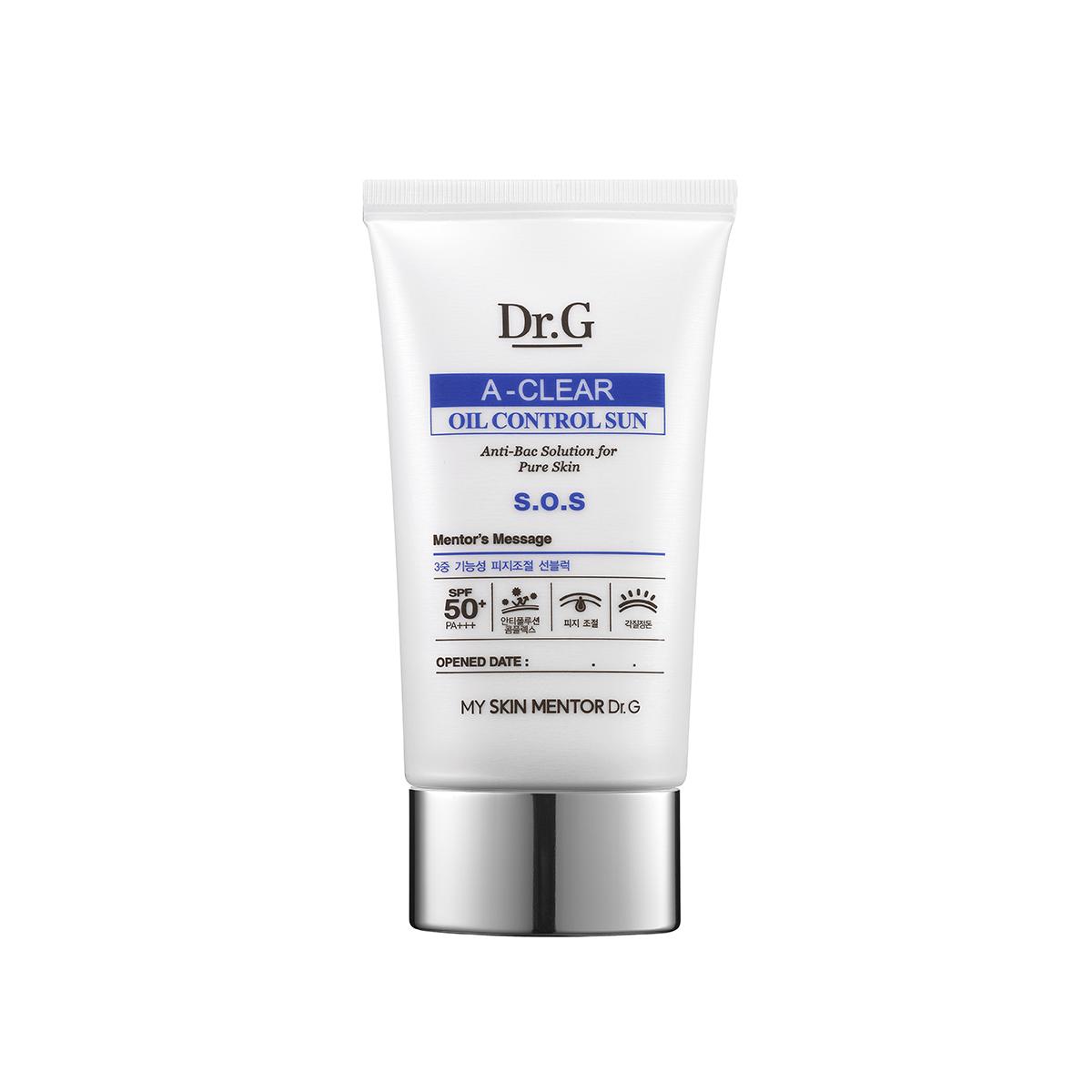 Dr. G Крем солнцезащитный с регенерирующими свойствами для проблемной кожи SPF 50+ PA+++ A-Clear, 50 мл (Dr.G)
