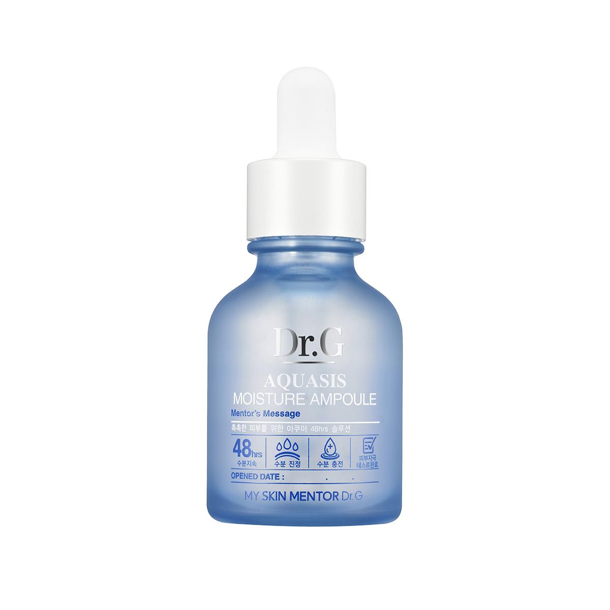 Dr. G Ампула-сыворотка увлажняющая Aquasis, 30 млDG135462Эссенция для восстановления тонуса кожи с экстрадолгим влагоудерживающим действием в течение 48 часов с эффектом мгновенного увлажнения. Содержит пентавитамин R, алоэ вера, гречиху и 2 вида гиалуроновой кислоты. 2 вида гиалуроновой кислоты дают эффект моментального увлажнения, избавляют от шелушения, грубого внешнего вида, стянутости. Обладают мультидействием - регенерирующими свойствами, усиливают метаболизм, поддерживает водный баланс. Пентавитамин R состоящий из натуральных карбогидрантов, сохраняет кожу нежной и упругой. Пентавитамин проникает в эпидермис достаточно глубоко и благодаря этому сохраняется нормальный водный баланс. Экстракт алоэ вера прекрасно увлажняет, оказывает заживляющее и успокаивающее действие, разглаживает морщины, замедляет процесс старения. Экстракт гречихи богат флавоноидами, которые борются со свободными радикалами. Эссенция подходит для всех типов кожи.