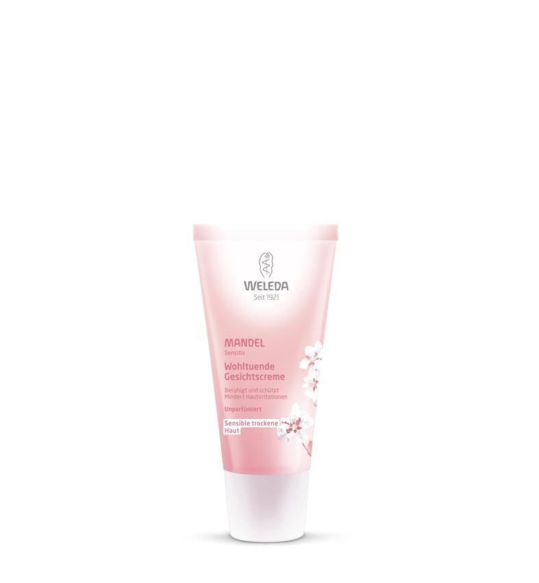 Weleda Крем-уход для лица Миндальный, деликатный, питающий, 30 мл8600Нежный крем Weleda Mandel, специально созданный для ухода за чувствительной сухой кожей, интенсивно питает и увлажняет кожу. Идеально подходит для дневного и ночного применения. Надежно защищает кожу от негативного воздействия окружающей среды, обладает противовоспалительным действием. Моментально восстанавливает баланс раздраженной кожи. Кожа становится естественно здоровой. 100% натуральный состав.