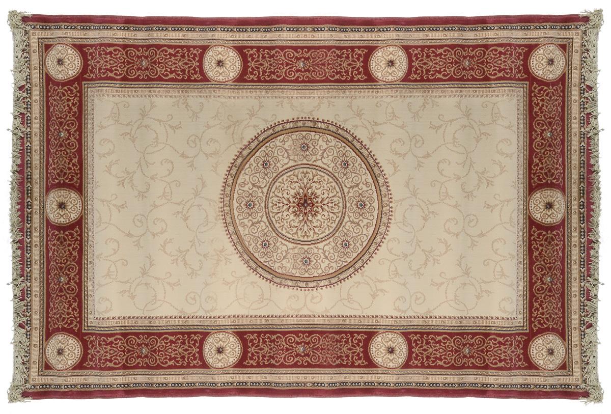 Ковер Oriental Weavers Кастл, цвет: коричнево-красный, бежевый, 120 х 180 см. 212 R12024Прикроватный коврик Oriental Weavers Кастл выполнен из полипропилен хит-сета. Изделие долго прослужит в вашем доме, добавляя тепло и уют, а также внесет неповторимый колорит в интерьер любой комнаты. Такой коврик отлично подойдет к вашему интерьеру.