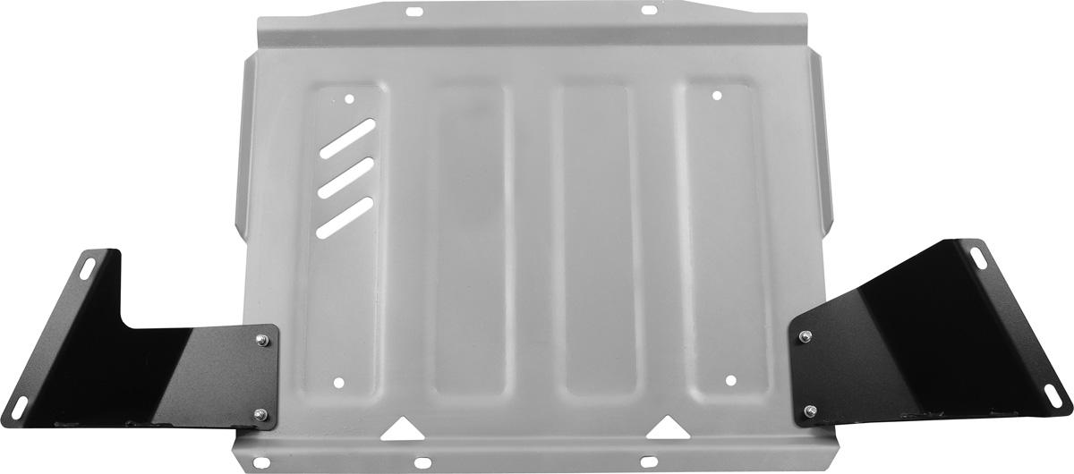 Защита КПП Rival, для Mitsubishi Pajero IV. 333.4044.1333.4044.1Защита КПП для Mitsubishi Pajero IV , V - 3,0; 3,2(188hp, 200hp); 3,8 2006-2011 2011-2016, крепеж в комплекте, алюминий 4 мм, Rival. Надежно защищают днище вашего автомобиля от повреждений, например при наезде на бордюры, а также выполняют эстетическую функцию при установке на высокие автомобили. - Толщина алюминиевых защит в 2 раза толще стальных, а вес при этом меньше до 30%. - Отлично отводит тепло от двигателя своей поверхностью, что спасает двигатель от перегрева в летний период или при высоких нагрузках. - В отличие от стальных, алюминиевые защиты не поддаются коррозии, что гарантирует срок службы защит более 5 лет. - Покрываются порошковой краской, что надолго сохраняет первоначальный вид новой защиты и защищает от гальванической коррозии. - Глубокий штамп дополнительно усиливает конструкцию защиты. - Подштамповка в местах крепления защищает крепеж от срезания. - Технологические отверстия там, где они...