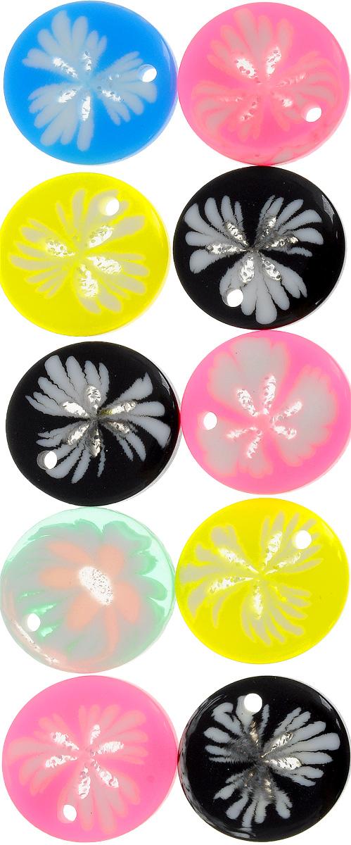 Набор бусин Magic 4 Hobby Цветочки, цвет: розовый, желтый, черный, диаметр 20 мм, 10 штБУС.E8506.27Набор бусин Magic 4 Hobby Цветочки, изготовленный из высококачественного акрила, позволит вам своими руками создать оригинальные ожерелья, бусы или браслеты. Бусины имеют круглую форму яркой окраски. Изготовление украшений - занимательное хобби и реализация творческих способностей рукодельницы, это возможность создания неповторимого индивидуального подарка. Диаметр бусины: 20 мм.