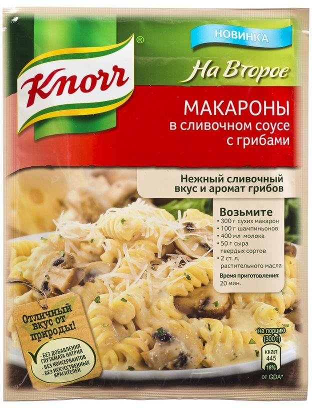 Knorr Приправа На второе Макароны в сливочном соусе с грибами, 26 г67025083