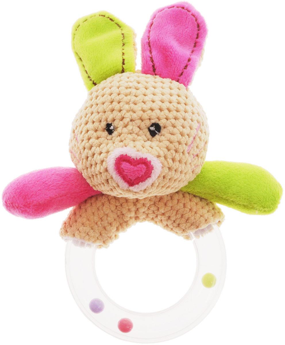 Жирафики Погремушка Кролик93673Яркая погремушка Жирафики Кролик поднимет вашему малышу настроение и непременно вызовет улыбку! Игрушка выполнена из мягкого, приятного на ощупь материала различных фактур в виде забавного кролика. Туловище выполнено в виде пластикового прозрачного кольца, содержащего разноцветные шарики, которые перекатываются и весело гремят при встряхивании игрушки. Изделие очень удобно для маленьких детских ручек. Малыш сможет держать, перекладывать из одной ручки в другую. Погремушка способствует развитию слухового, зрительного и эмоционального восприятия, тактильных ощущений, мелкой моторики.