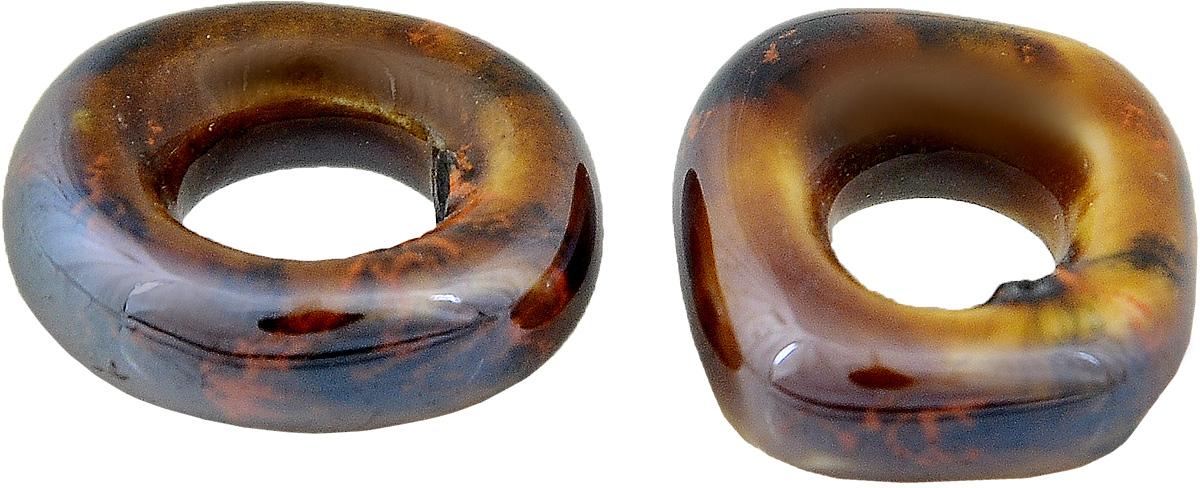 Набор бусин Tesоro, цвет: темно-красный, коричневый (20), 20 х 17 х 6 мм, 2 штБУС.КЕРАМ.TS.392.02Набор бусин Tesоro, изготовленный из керамики, позволит вам своими руками создать оригинальные ожерелья, бусы или браслеты. Бусины имеют круглую форму яркой окраски. Изготовление украшений - занимательное хобби и реализация творческих способностей рукодельницы, это возможность создания неповторимого индивидуального подарка. Размер бусины: 20 х 17 х 6 мм.