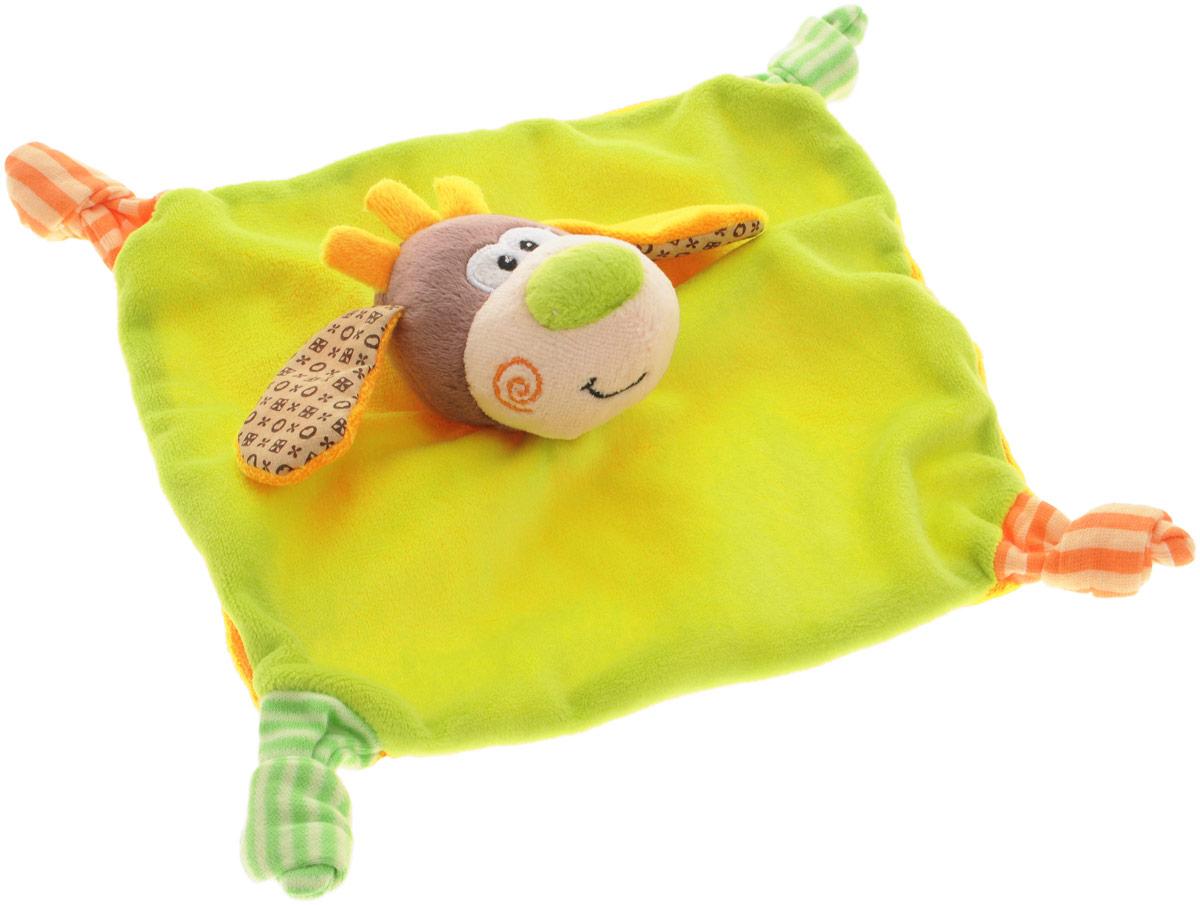 Жирафики Развивающая игрушка Платок Веселый щенок93499Яркая развивающая игрушка Жирафики Платок. Веселый щенок изготовлена из материалов различной фактуры. Как же весело и интересно ее рассматривать! Но держать ее в маленьких ручках еще интереснее, ведь она таит в себе столько приятных сюрпризов и столько удивительных открытий! С четырех сторон у платочка находятся узелки, развязывая которые, ребенок будет тренировать мелкую моторику рук. В голове щенка спрятана погремушка. Игрушка способствует развитию цветовосприятия, звуковосприятия и тактильных ощущений.