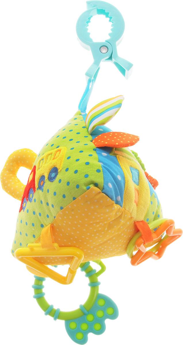 Жирафики Игрушка-подвеска Пирамидка93562Игрушка-подвеска Жирафики Пирамидка выполнена из материалов разных цветов. Игрушка сразу привлечет внимание малышей из-за обилия развивающих элементов: это и шуршащие крылышки, и петельки, и погремушка, и шнурочки, и прорезыватель для зубов. С помощью пластикового зажима игрушку легко можно прикрепить к детской кроватке, коляске или автомобильному креслу. Играя, ребенок развивает мелкую моторику рук, слуховое восприятие и тактильные ощущения.