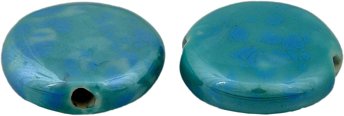 Набор бусин Tesоro, цвет: голубой (35), 20 мм, 2 штБУС.КЕРАМ.TS.355.35Набор бусин Tesоro, изготовленный из керамики, позволит вам своими руками создать оригинальные ожерелья, бусы или браслеты. Бусины имеют круглую форму яркой окраски. Изготовление украшений - занимательное хобби и реализация творческих способностей рукодельницы, это возможность создания неповторимого индивидуального подарка. Диаметр бусины: 20 мм.