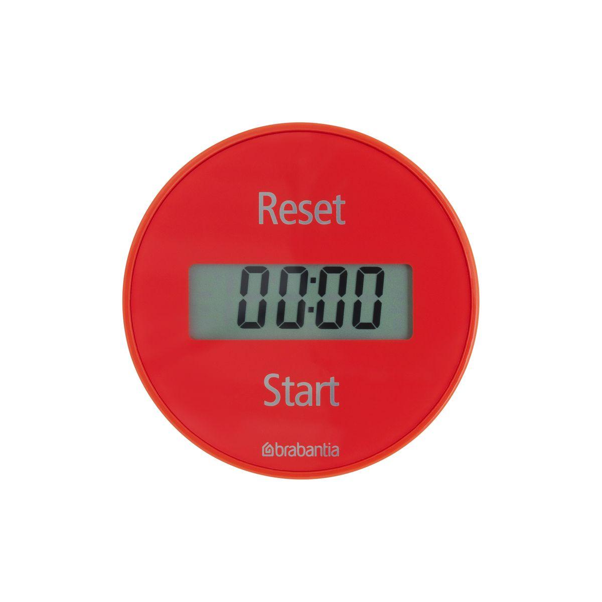 Кухонный таймер Brabantia Tasty Colours103704Кухонный таймер на магните с прямым и обратным отсчетом в диапазоне до 99 минут. Просто поверните внешнее кольцо прибора для установки времени, необходимого для приготовления Вашего любимого блюда. Звуковой сигнал известит Вас о готовности. Таймер легко и быстро устанавливается с помощью внешнего кольца - просто поверните; Удобное крепление - на магните; Функция таймера и секундомера; В комплект входит батарея CR2032; 5-летняя гарантия Brabantia.