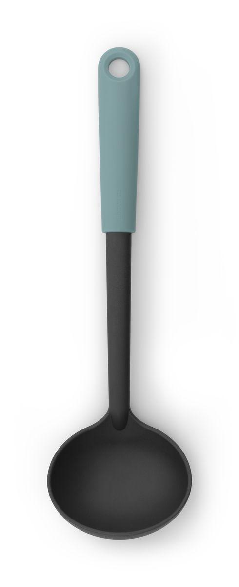 Ложка разливательная Brabantia Tasty Colours106125Половник с длинной ручкой поможет аккуратно разлить суп по тарелкам. Половник изготовлен из упругого термостойкого нейлона (макс. 220°C) и не оставляет царапин на посуде с антипригарным покрытием; Изделие легко моется - можно мыть в посудомоечной машине; Петелька для подвешивания; Входит в коллекцию Brabantia Tasty Colours- красочное решение для выполнения любой задачи на кухне! 5-летняя гарантия Brabantia.