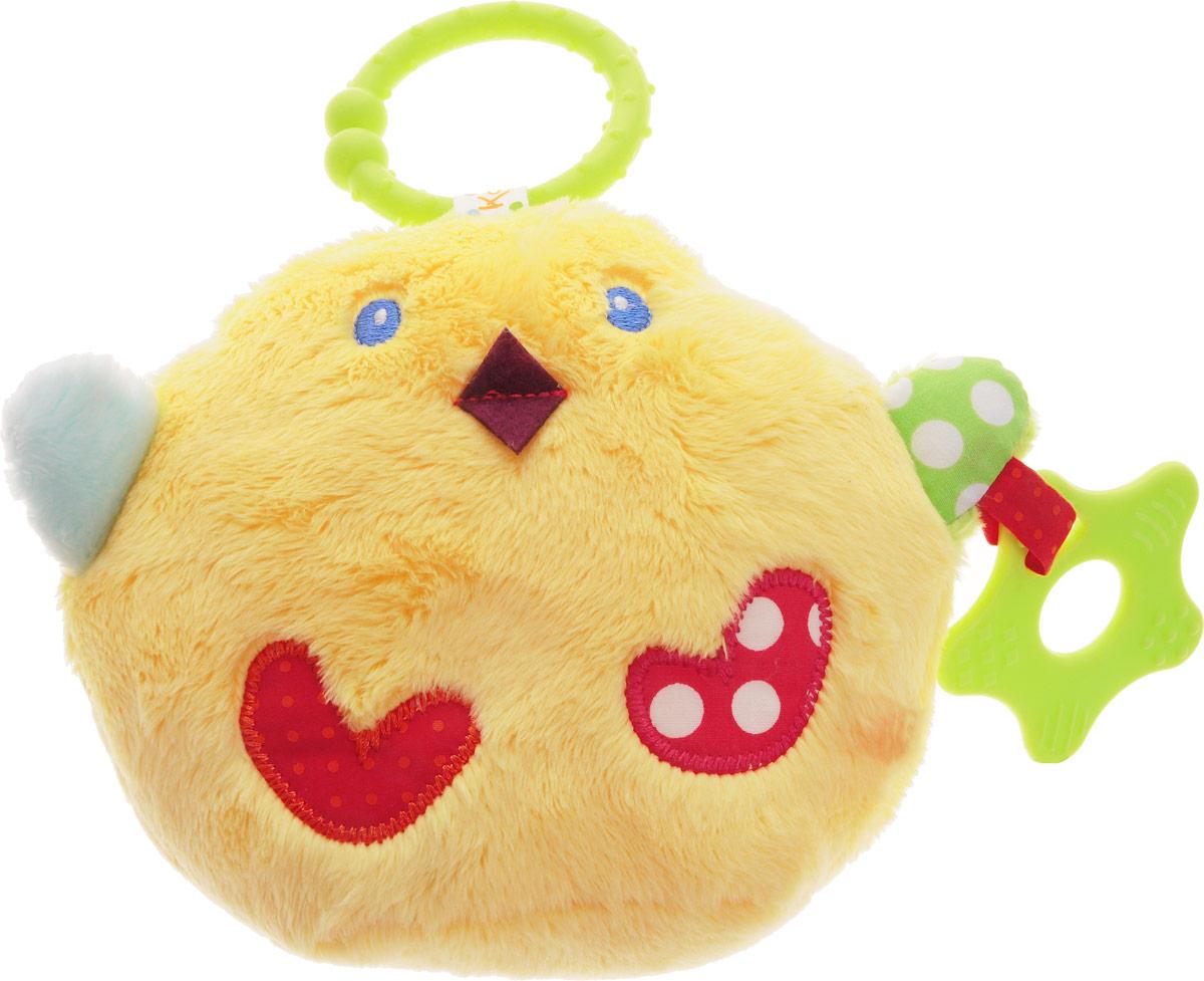 Kaloo Игрушка-подвеска ЦыпленокK963298Очаровательная игрушка-подвеска Kaloo Цыпленок надолго увлечет вашего малыша и обязательно станет одной из его любимых игрушек, которую вы будете брать с собой на прогулку. Игрушка выполнена в виде желтого цыпленка с яркими элементами. К одной из лапок цыпленка прикреплен прорезыватель. Внутри игрушки находится шуршащий элемент. С помощью удобного колечка игрушку можно подвесить к коляске, кроватке или автокреслу. Игрушка предназначена для детей с самых первых дней их жизни. Игрушка-подвеска Kaloo Цыпленок развивает слуховое восприятие, зрительную координацию, моторику ручек, облегчает процесс прорезывания зубов.