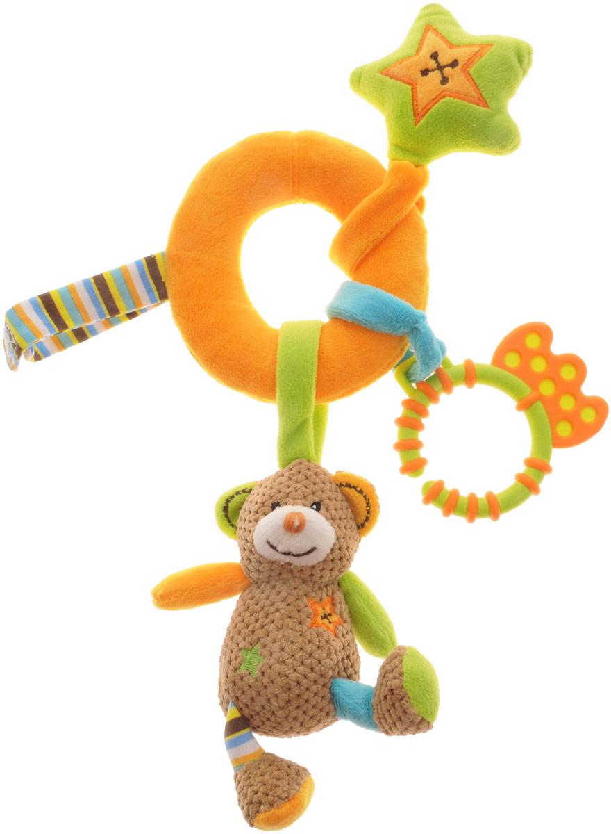 Жирафики Игрушка-подвеска Мишка Тимка93685Игрушка-подвеска Жирафики Мишка Тимка объединяет в себе погремушку, пищалку и прорезыватель. Яркая расцветка и фактура привлекут внимание ребенка. С помощью текстильных ремешков на липучке игрушку легко можно прикрепить к детской кроватке, коляске или автомобильному креслу. Игрушка-подвеска поможет развить у малыша мелкую моторику рук, звуковое и зрительное восприятия, тактильные ощущения, координацию движений, а милый жизнерадостный образ подарит малышу хорошее настроение!
