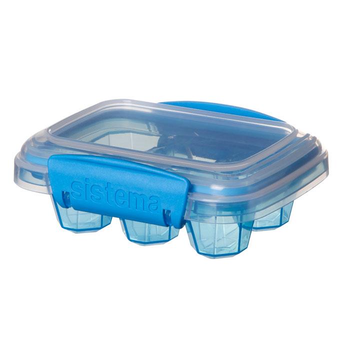 Контейнер для льда Sistema KLIP IT, малый, цвет: синий, 6 ячеек61440_синийКонтейнер Klip It предназначен для приготовления 6 кубиков льда. Крышка с силиконовой прокладкой герметично закрывается что помогает дольше сохранить полезные свойства продуктов. Контейнер оснащен фиксирующимися зажимами – клипсами, которые при необходимости можно заменить. Контейнеры вкладываются один в другой для экономии места при хранении. Можно мыть в посудомоечной машине.