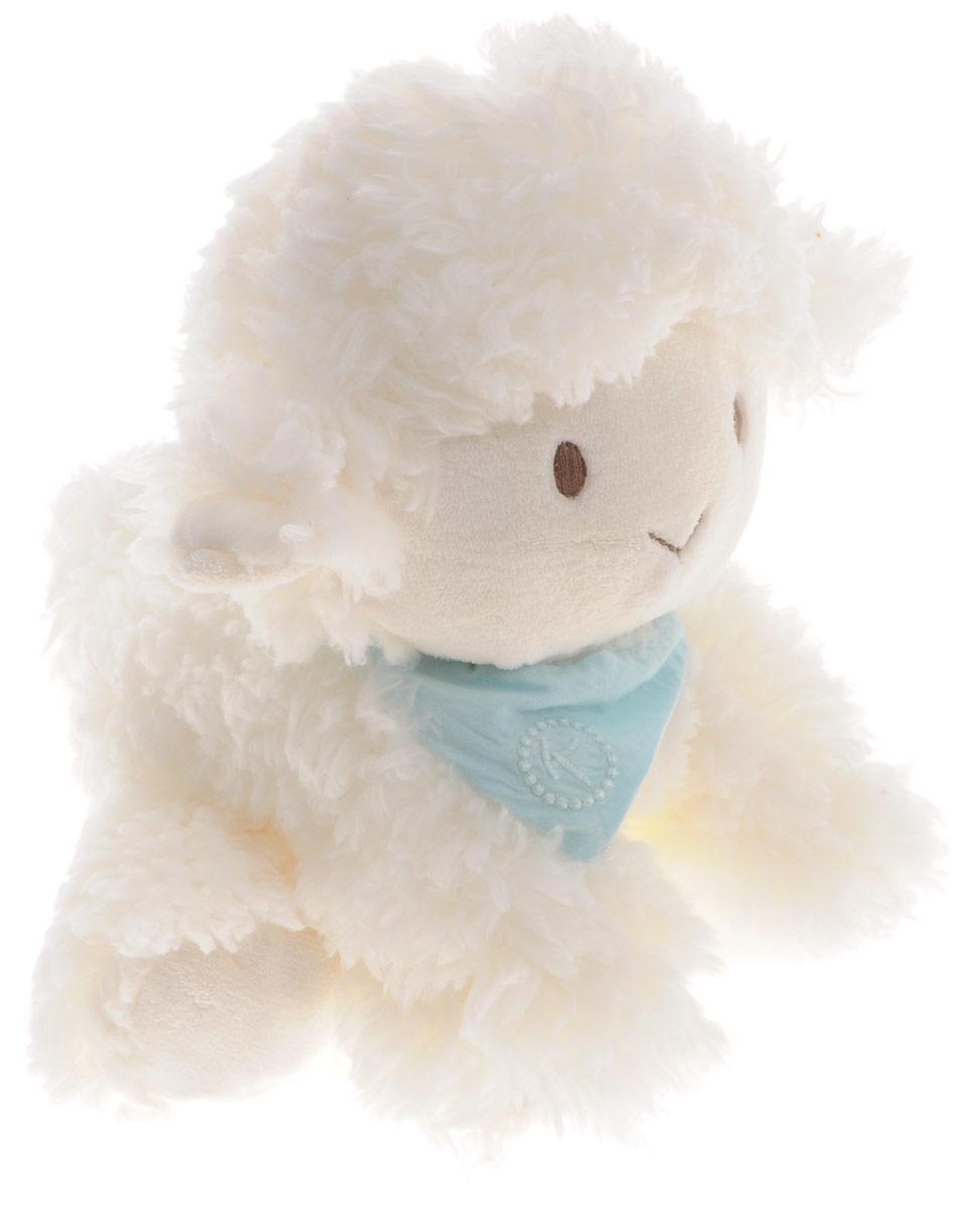 Kaloo Мягкая музыкальная игрушка Овечка 25 смK963142Мягкая музыкальная игрушка Kaloo Овечка надолго станет постоянным спутником вашего малыша. Игрушка выполнена из качественных и безопасных для здоровья детей материалов, которые не вызывают аллергии, приятны на ощупь и доставляют большое удовольствие во время игр. На шее у белоснежной овечки повязан светло-бирюзовый платочек. Игрушку приятно держать в руках, прижимать к себе и придумывать разнообразные игры. Специальные гранулы, используемые при набивке игрушки, способствуют развитию мелкой моторики рук малыша. Если потянуть за хвостик овечки малыш услышит мелодичную колыбельную. Игры с мягкими игрушками развивают тактильную чувствительность и сенсорное восприятие. Все игрушки Kaloo прошли множественные тесты и соответствуют мировым стандартам безопасности. Именно поэтому игрушки рекомендованы для детей с рождения, что отличает их от большинства производителей мягких игрушек. Игрушка поставляется в стильной коробке и идеально подходит в качестве подарка.