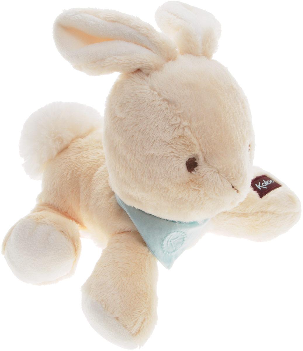 Kaloo Мягкая игрушка Заяц 25 смK963119Очаровательная мягкая игрушка Kaloo Заяц на долгие годы станет одной из самых любимых игрушек вашего малыша. Зайчик выполнен в бежевых тонах, на шее у него повязан платочек нежно-бирюзового цвета. Игрушка выполнена из качественных и безопасных для здоровья детей материалов, которые не вызывают аллергии, приятны на ощупь и доставляют большое удовольствие во время игр. Специальные гранулы, используемые при набивке игрушки, способствуют развитию мелкой моторики рук малыша. Игрушку приятно держать в руках, прижимать к себе и придумывать разнообразные игры. Игры с мягкими игрушками развивают тактильную чувствительность и сенсорное восприятие. Игрушка поставляется в стильной коробке и идеально подходит в качестве подарка.