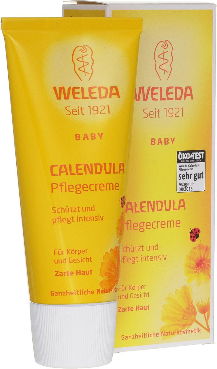 Weleda Крем для тела Baby, с календулой, 75 мл9654Крем для тела с экстрактом календулы и ромашки - это ароматный увлажняющий крем с успокаивающим эффектом, предназначенный для ежедневного ухода за лицом и телом вашего малыша. Крем для тела может применяться для профилактики опрелостей. Действующими веществами крема являются масляные экстракты календулы и цветков ромашки, обладающих противовоспалительным эффектом. Благодаря им кожа ребенка остается мягкой и эластичной и легко справляется с мелкими раздражениями. Входящие в состав крема пчелиный воск и ланолин защищают кожу от внешних раздражителей, при этом они не снижают дыхательную функцию кожи. Крем хорошо увлажняет кожу ребенка. Легко втирается и быстро впитывается кожей. Товар сертифицирован.
