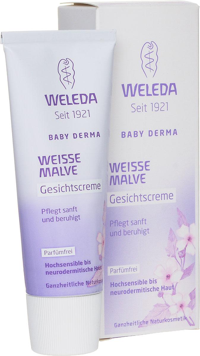 Weleda Крем для лица Baby Derma, с алтеем, для гиперчувствительной кожи, 50 мл9666Нежный крем без ароматизаторов с тщательно подобранными безопасными полностью натуральными компонентами успокаивает и восстанавливает кожу, снимает сухость и раздражение. Алтей лекарственный смягчает раздражение и создает защитный слой, ценный экстракт фиалки – успокаивает, а кокосовое и кунжутные масла – интенсивно питают. Подходит для ухода за сухой, реактивной кожей детей и взрослых, а также при атопическом дерматите. Защищает кожу от негативного воздействия окружающей среды. Основные ингредиенты и их свойства: Кокосовое масло холодного прессования, богатое насыщенными жирными кислотами, помогает формированию естественного защитного слоя. Масло бораго благодаря омега-6-ненасыщенным кислотам (гамма-линоленовая жирная кислота) восстанавливает защитный барьер кожи. Содержит растительные жиры и масла, фитостеролы и витамин Е. Экстракт фиалки успокаивает и увлажняет кожу. Сафлоровое масло богато линолевой...