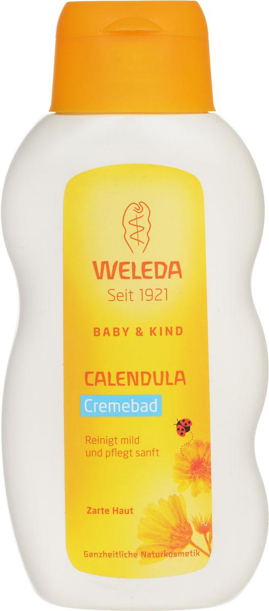 Weleda Молочко для купания Baby, с календулой, 200 мл9659Молочко для купания младенцев Weleda имеет кремово-белый цвет и свежий нежный запах. Предназначено для нежного очищения и успокоения нежной кожи вашего малыша. Высокое содержание в молочке целебных растительных масел способствует предотвращению потери влаги, что делает кожу малыша нежной и мягкой. Молочко для купания младенцев идеально подходит и для взрослых с чувствительной кожей. Масла миндаля и кунжута, входящие в состав молочка, покрывают кожу ребенка тонким слоем, который вы можете ощущать, когда вынимаете малыша из ванночки. Этот слой формирует естественную защиту таким образом, что вы можете купать малыша каждый день, не нарушая естественный баланс его кожи (обычно мы рекомендуем купать малыша через день или два). Экстракт календулы, входящий в состав молочка для купания, очищает и успокаивает чувствительную кожу. Смесь натуральных эфирных масел, в том числе лавандовое и лимонное масло, придают крему для купания нежный свежий аромат. Товар...