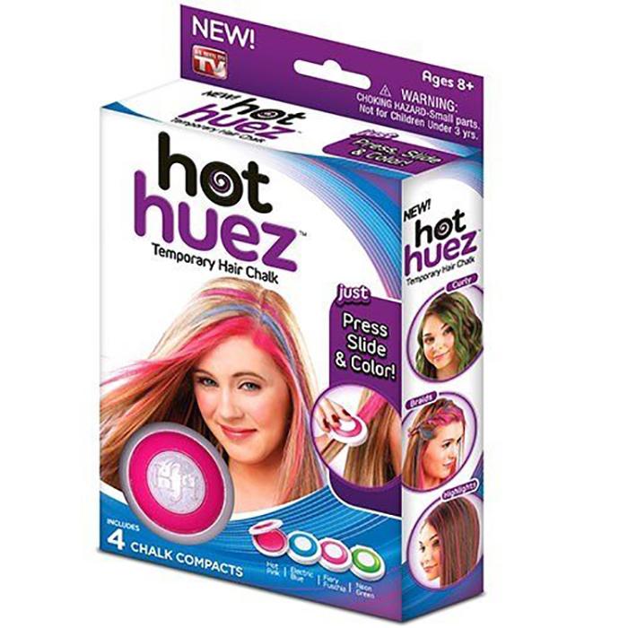 Hot Huez Мгновенная краска для волос, 4 цветаКДВНаскучил свой цвет волос, но не хочется портить волосы краской? На помощь придут мелки для временной окраски – безопасный и быстрый способ изменить Ваш образ! Чудо-мелки особенно актуальны для ярких личностей, которые хотят меняться ежедневно, при этом не портя волосы и не затрачивая много времени на покраску.