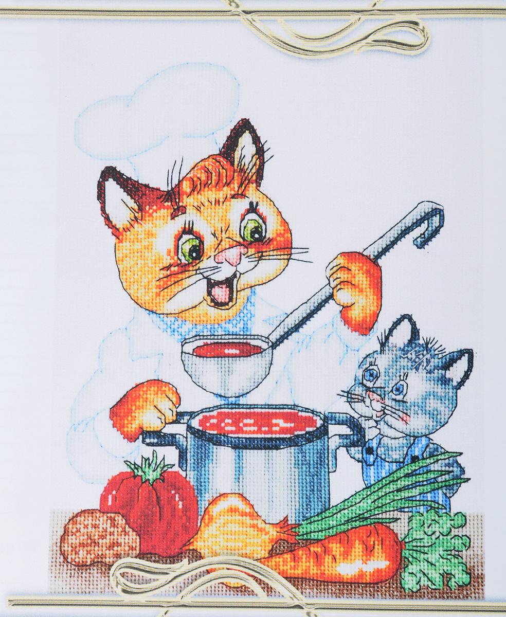 Набор для вышивания крестом Alisena Кот кулинар, 18 х 23 см497026Набор для вышивания крестом Alisena Кот кулинар поможет создать красивую вышитую картину. Рисунок-вышивка, выполненный на канве, выглядит стильно и модно. Вышивание отвлечет вас от повседневных забот и превратится в увлекательное занятие! Работа, сделанная своими руками, не только украсит интерьер дома, придав ему уют и оригинальность, но и будет отличным подарком для друзей и близких! Набор содержит все необходимые материалы для вышивки на канве в технике счетный крест. В состав набора входят: - канва Aida 16 ZWEIGART белая, - мулине Anchor (32 цвета), - игла, - цветная символьная схема, - инструкция на русском языке. Размер вшивки: 18 х 23 см. Размер канвы: 33 х 38 см. УВАЖАЕМЫЕ КЛИЕНТЫ! Обращаем ваше внимание, на тот факт, что рамка в комплект не входит, а служит для визуального восприятия товара.