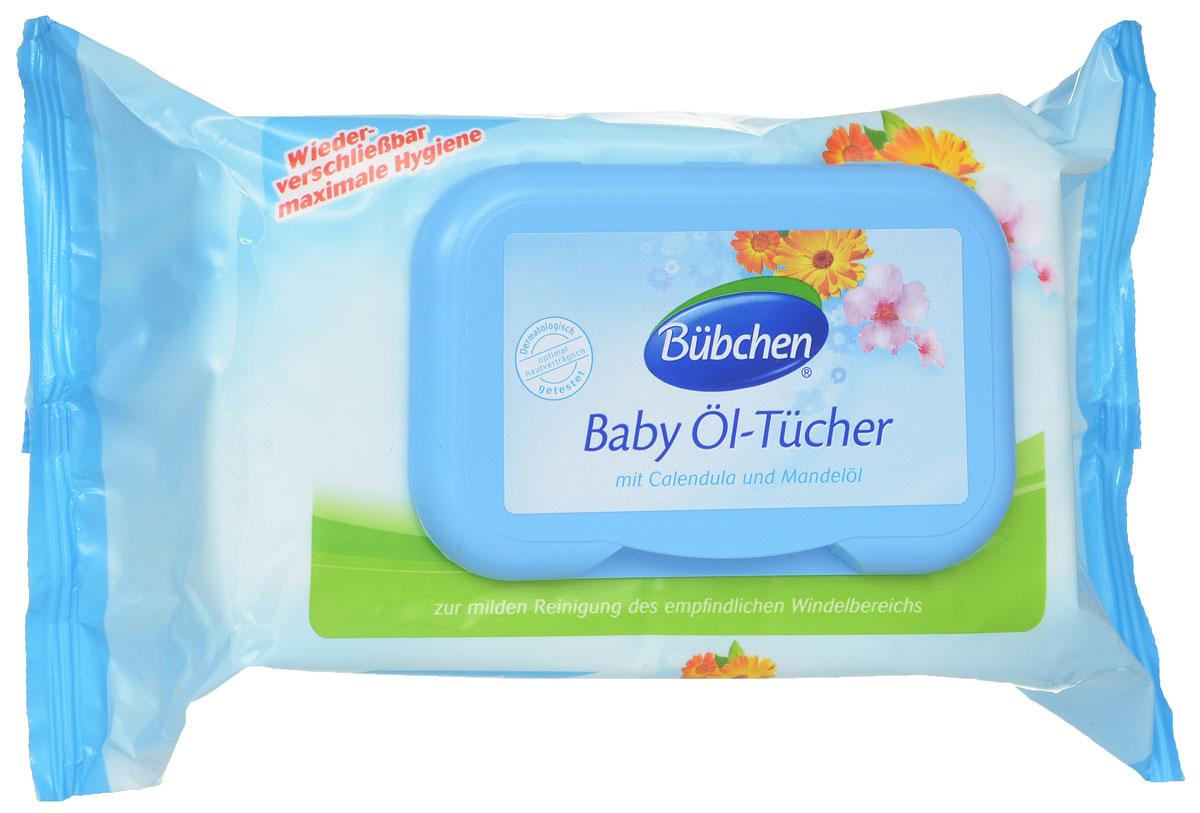 Салфетки очищающие Bubchen (Бюбхен) Baby Ol Tucher, промасленные, 72 шт12040560Промасленные салфетки Bubchen Baby Ol Tucher мягко очищают чувствительную кожу малыша в области подгузника. Входящие в состав масло миндаля и экстракт календулы бережно и мягко заботятся о нежной чувствительной коже. Специальный клапан на упаковке с салфетками, не позволит им высохнуть, и делает их применение многократным. Особенности салфеток: с цветками календулы и маслом миндаля; не содержат спирта, консервантов, хлора; проверено дерматологами.
