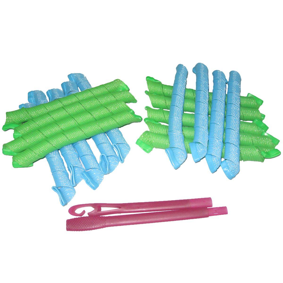 Magic Leverage Волшебные бигуди Средние 44 см, 18 штСр44Создают большой объем, обеспечивают бережное отношение к волосам, легки в использовании. В упаковке 18 цветных бигуди, длиной 44 см (в развернутой виде), и специальный крючок. При использовании, желательно, чтобы влажность волос была в пределах 60-70%. Характеристики: Длина: 44 см Ширина локона: 2 см Диаметр завитка: 2,2 см Количество: 18 шт. Крючок: двойной Упаковка: коробка