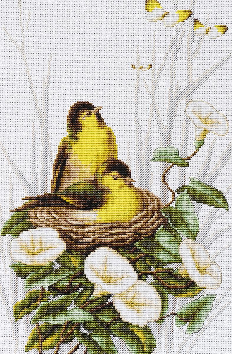 Набор для вышивания крестом Luca-S Птички в гнезде , 20 х 31,5 смB2240Набор для вышивания крестом Luca-S Птички в гнезде поможет создать красивую вышитую картину. Рисунок-вышивка, выполненный на канве, выглядит стильно и модно. Вышивание отвлечет вас от повседневных забот и превратится в увлекательное занятие! Работа, сделанная своими руками, не только украсит интерьер дома, придав ему уют и оригинальность, но и будет отличным подарком для друзей и близких! Набор содержит все необходимые материалы для вышивки на канве в технике счетный крест. В набор входит: - канва Aida №18 Zweigart (белого цвета), - мулине Anchor (33 цвета), - черно-белая символьная схема, - инструкция на русском языке, - игла. Размер готовой работы: 20,5 х 31,5 см. Размер канвы: 30 х 41 см.
