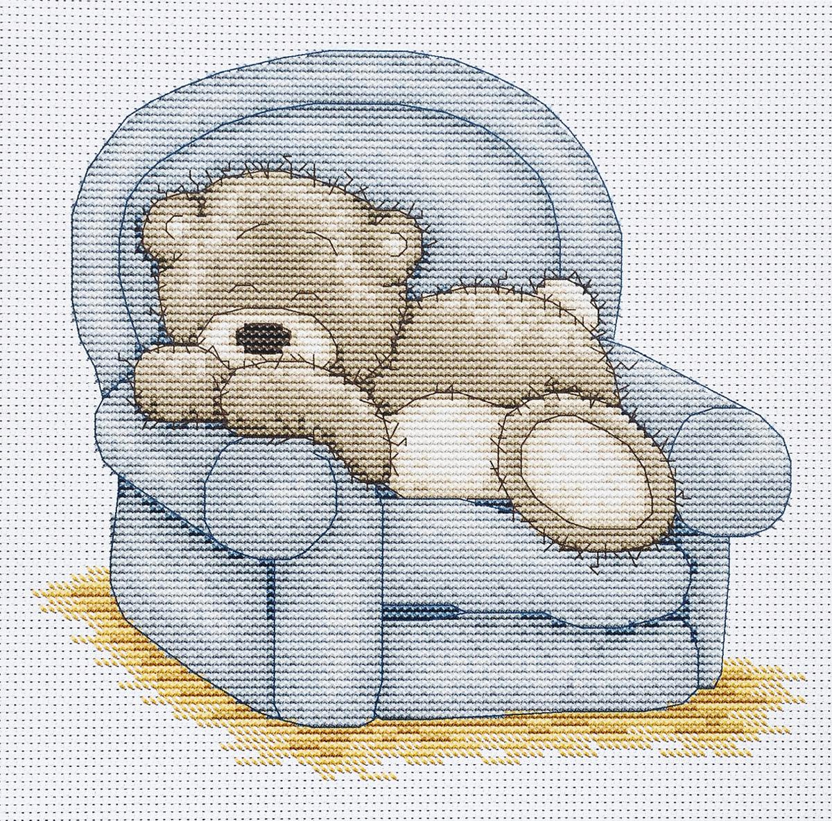 Набор для вышивания крестом Luca-S Медвежонок Бруно, 16 х 15,5 смB1019Набор для вышивания Luca-S крестом Медвежонок Бруно поможет вам создать свой личный шедевр - красивую картину, вышитую нитками. Красивый и стильный рисунок-вышивка, выполненный на канве, выглядит оригинально и всегда модно. Работа, сделанная своими руками, создаст особый уют и атмосферу в доме и долгие годы будет радовать вас и ваших близких. В наборе есть все необходимое для создания вышивки на канве в технике счетный крест. В набор входит: - канва Aida Zweigart №16 (белого цвета), - мулине Anchor (17 цветов), - черно-белая символьная схема, - инструкция на русском языке, - игла. Размер готовой работы: 16 х 15,5 см. Размер канвы: 29,5 х 26 см.