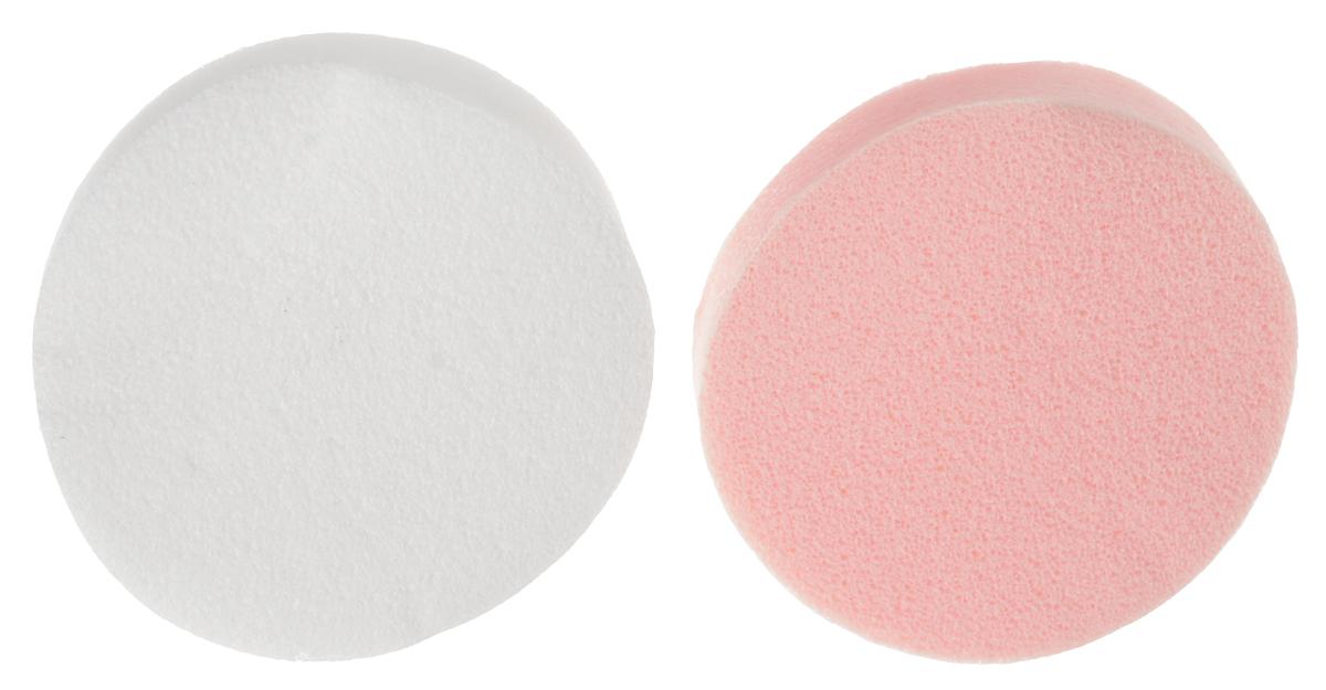 Губка косметическая Riffi Профи для нанесения макияжа, круглая, 2 шт. 392, цвет в ассортименте
