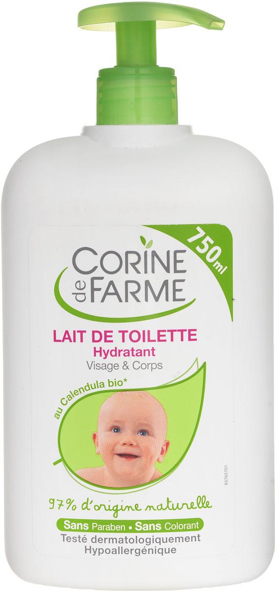 Corine De Farme Детское молочко для лица и тела, увлажняющее, 750 мл10741Детское увлажняющее молочко подходит для любого типа кожи малыша, в т.ч. для очень чувствительной. Молочко оставляет ощущение мягкости и легкости, благодаря экстракту цветов календулы, который входит в его состав. Товар сертифицирован.