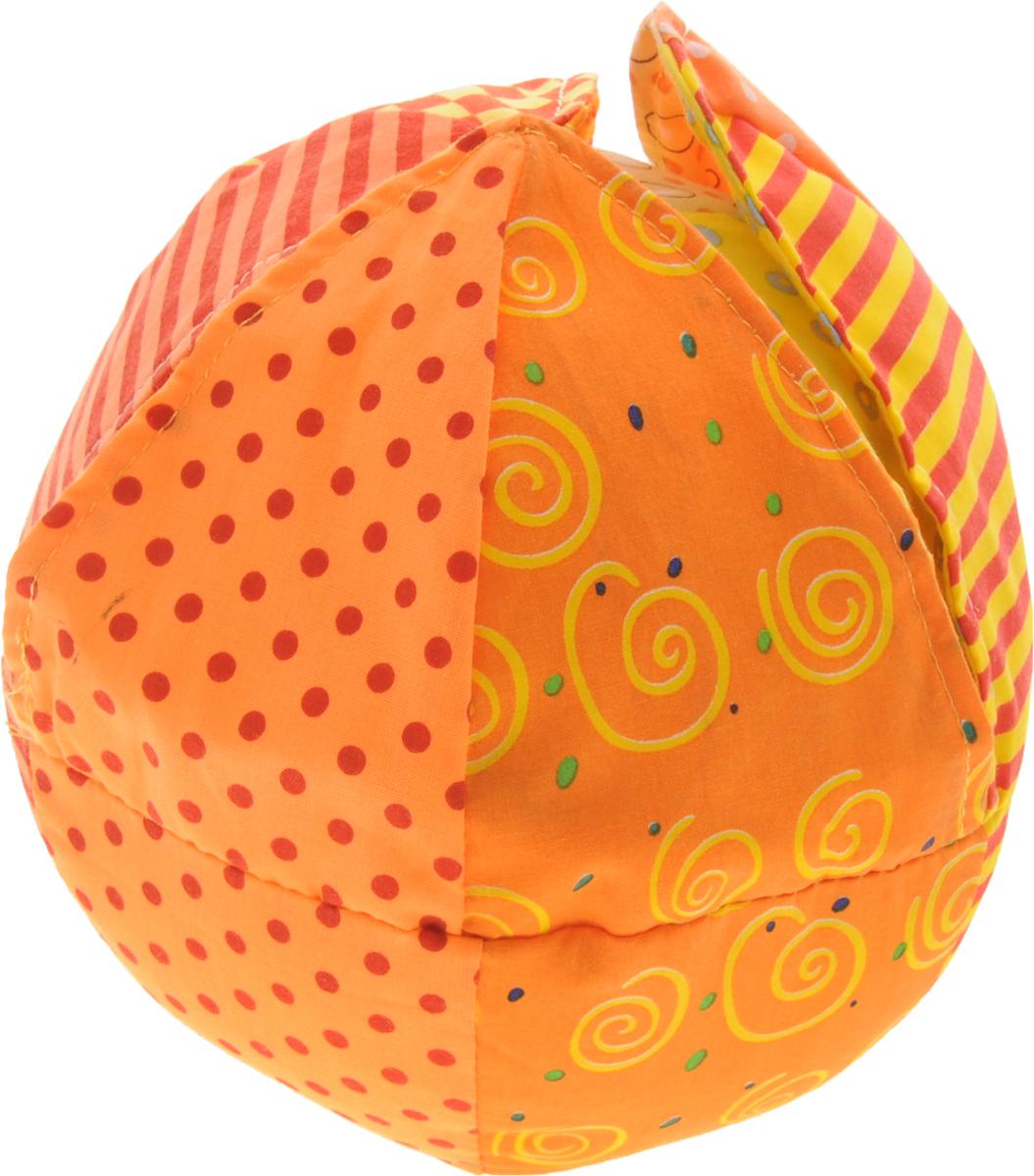 Жирафики Развивающая игрушка Веселый апельсин93633Яркая развивающая игрушка Жирафики Веселый апельсин изготовлена из материалов различной фактуры. Как же весело и интересно ее рассматривать! Но держать ее в маленьких ручках еще интереснее, ведь она таит в себе столько приятных сюрпризов и столько удивительных открытий! Если потрясти игрушку, то можно услышать приятный звон бубенцов. В узорчатую апельсиновую кожуру спрятаны шуршащие элементы. Игрушка способствует развитию цветовосприятия, звуковосприятия и мелкой моторики рук.