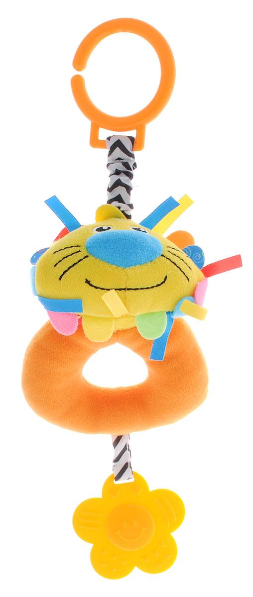 Жирафики Игрушка-подвеска Львенок 9392993929Игрушка-подвеска Жирафики Львенок - мягкая игрушка с погремушкой внутри. К львенку снизу прикреплен фигурный прорезыватель. Прорезыватель поможет малышу в период появления первых зубов. С помощью незамкнутого пластикового кольца игрушку можно крепить к кроватке или коляске. Игрушка очень удобна для маленьких детских ручек. Малыш сможет ее держать, перекладывать из одной ручки в другую. Игрушка способствует развитию слухового, зрительного и эмоционального восприятия, тактильных ощущений, мелкой моторики.