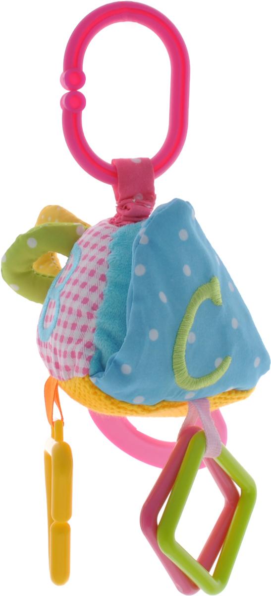 Жирафики Игрушка-подвеска Треугольник93810Яркая игрушка-подвеска Жирафики Зебра выполнена из материалов различной фактуры в виде треугольника. За мягкой шуршащей крышечкой на липучке находится безопасное зеркальце, в котором ребенок может увидеть свое отражение. Прорезыватель можно кусать или перебирать пальчиками. Если изделие потянуть вниз, то оно начнет вибрировать до тех пор, пока веревочка не вернется в исходное положение. С помощью пластикового незамкнутого кольца игрушку можно подвесить к кроватке, коляске, автокреслу или игровой дуге малыша. Игрушка-подвеска поможет ребенку в развитии цветового и звукового восприятия, концентрации внимания, мелкой моторики рук, координации движений и тактильных ощущений.