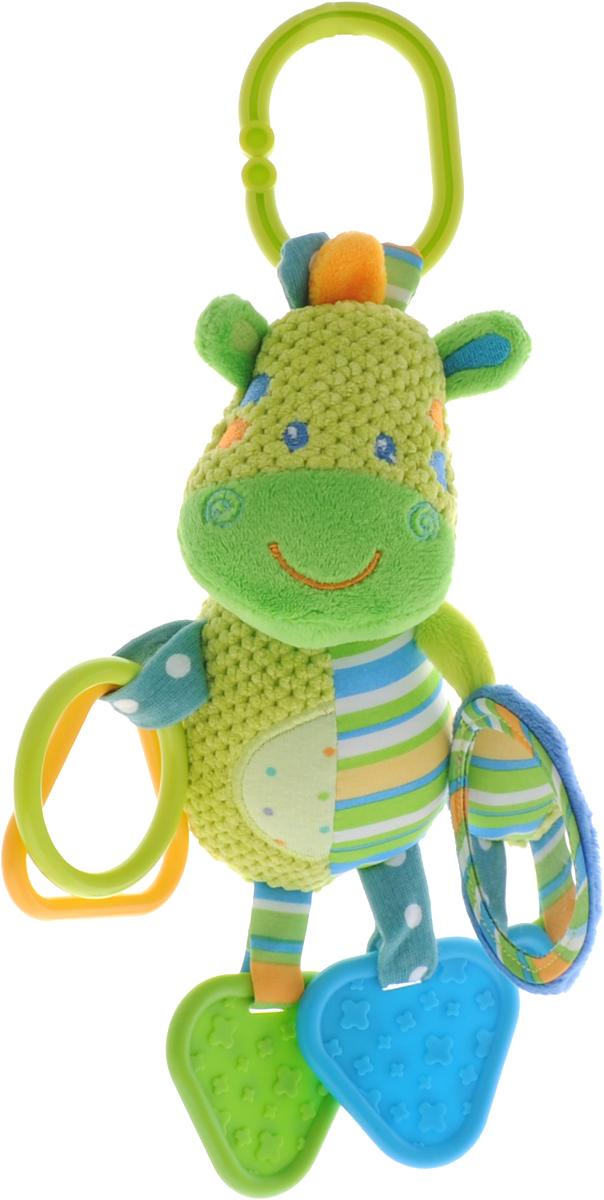 Жирафики Игрушка-подвеска Зебра 9381593815Яркая игрушка-подвеска Жирафики Зебра выполнена из материалов различной фактуры в виде очаровательной зебры. К ножкам игрушки прикреплены два прорезывателя для зубов, а к ручкам - фигурные колечки и безопасное зеркальце. С помощью пластикового незамкнутого кольца игрушку можно подвесить к кроватке, коляске, автокреслу или игровой дуге малыша. Игрушка- подвеска поможет ребенку в развитии цветового и звукового восприятия, концентрации внимания, мелкой моторики рук, координации движений и тактильных ощущений.