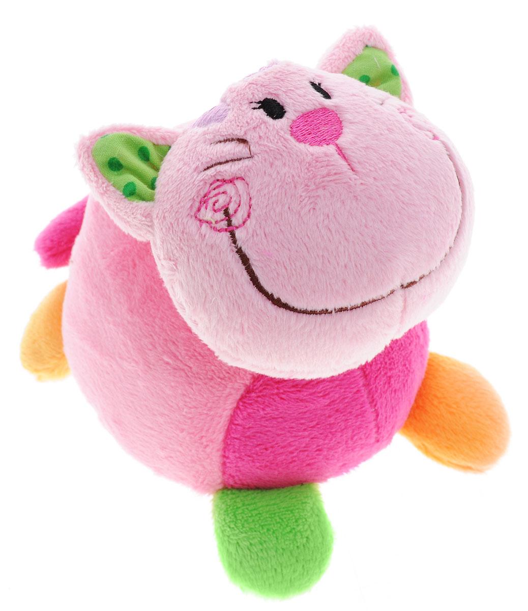 Жирафики Развивающая игрушка Друзья93845Развивающая игрушка Жирафики Друзья не оставит вашего малыша равнодушным и не позволит ему скучать! Яркая игрушка выполнена в виде кошки из текстильного материала различных цветов и фактур. Внутри игрушки спрятана сфера, гремящая при тряске. Если потянуть за хвост кошки - она завибрирует и издаст звуки. Яркие цвета игрушки и различные типы материала направлены на развитие мыслительной деятельности, цветовосприятия, тактильных ощущений и мелкой моторики рук ребенка, а элемент погремушки способствует развитию слуха.