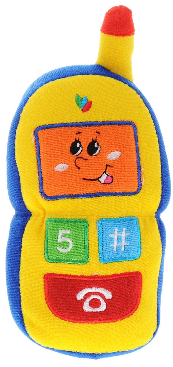 Жирафики Развивающая игрушка Телефон93637Забавная развивающая игрушка Жирафики Телефон поднимет вашему малышу настроение и непременно вызовет улыбку! Игрушка выполнена из мягкого, приятного на ощупь материала в виде сотового телефона с улыбающимся экраном. При надавливании на кнопки телефон начинает забавно пищать. Игрушка очень удобна для маленьких детских ручек. Малыш сможет ее держать, перекладывать из одной ручки в другую. Игрушка способствует развитию слухового, зрительного и эмоционального восприятия, тактильных ощущений, мелкой моторики.