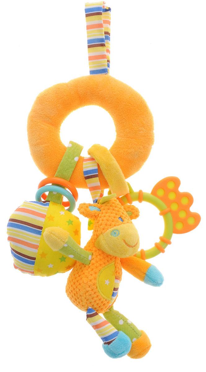Жирафики Игрушка-подвеска Жирафик93827Игрушка-подвеска Жирафики Жирафик объединяет в себе погремушку, пищалку и прорезыватель. Яркая расцветка и фактура привлекут внимание ребенка. Подвеску можно прикрепить к кроватке, коляске или манежу при помощи двух текстильных веревочек на липучке. Игрушка-подвеска Жирафики Жирафик поможет ребенку развить мелкую моторику рук, зрительное и слуховое восприятия, тактильные ощущения.