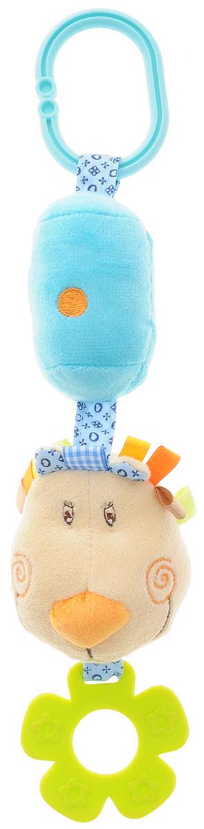Жирафики Игрушка-подвеска Львенок93578Забавная развивающая игрушка-подвеска Жирафики Львенок поднимет вашему малышу настроение и непременно вызовет улыбку! Игрушка выполнена из мягкого, приятного на ощупь материала различных фактур в виде львенка с мягким цилиндром. Внутри цилиндра имеется погремушка, которая весело гремит при встряхивании. К игрушке также прикреплен фигурный прорезыватель. С помощью пластикового кольца игрушка может крепиться к кроватке или коляске. Игрушка очень удобна для маленьких детских ручек. Малыш сможет ее держать, перекладывать из одной ручки в другую. Игрушка способствует развитию слухового, зрительного и эмоционального восприятия, тактильных ощущений, мелкой моторики.