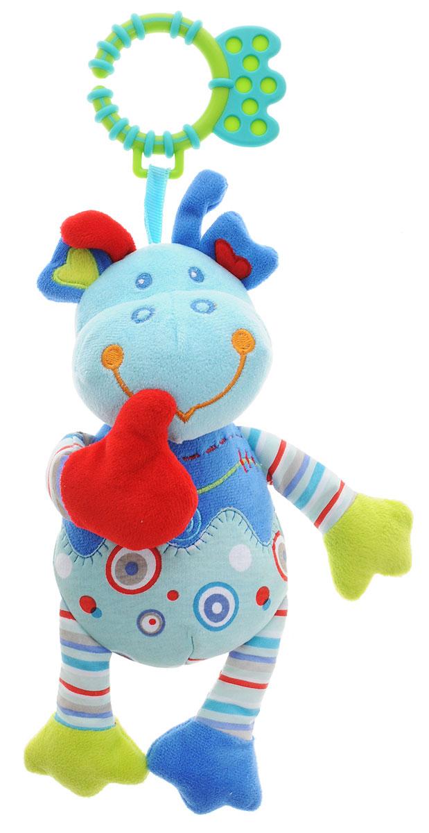 Жирафики Музыкальная игрушка-подвеска Динозаврик 939286939286Музыкальная игрушка-подвеска Жирафики Динозаврик выполнена из мягкого приятного на ощупь материала разных цветов и фактур в виде забавного динозавра. Яркая игрушка обязательно привлечет внимание малыша. Если динозаврику нажать на животик, то он станет издавать забавные звуки. Музыкальную подвеску можно прикрепить к кроватке, коляске или манежу при помощи пластикового незамкнутого кольца. Музыкальная игрушка-подвеска поможет ребенку развить мелкую моторику рук, зрительное и слуховое восприятия, тактильные ощущения.