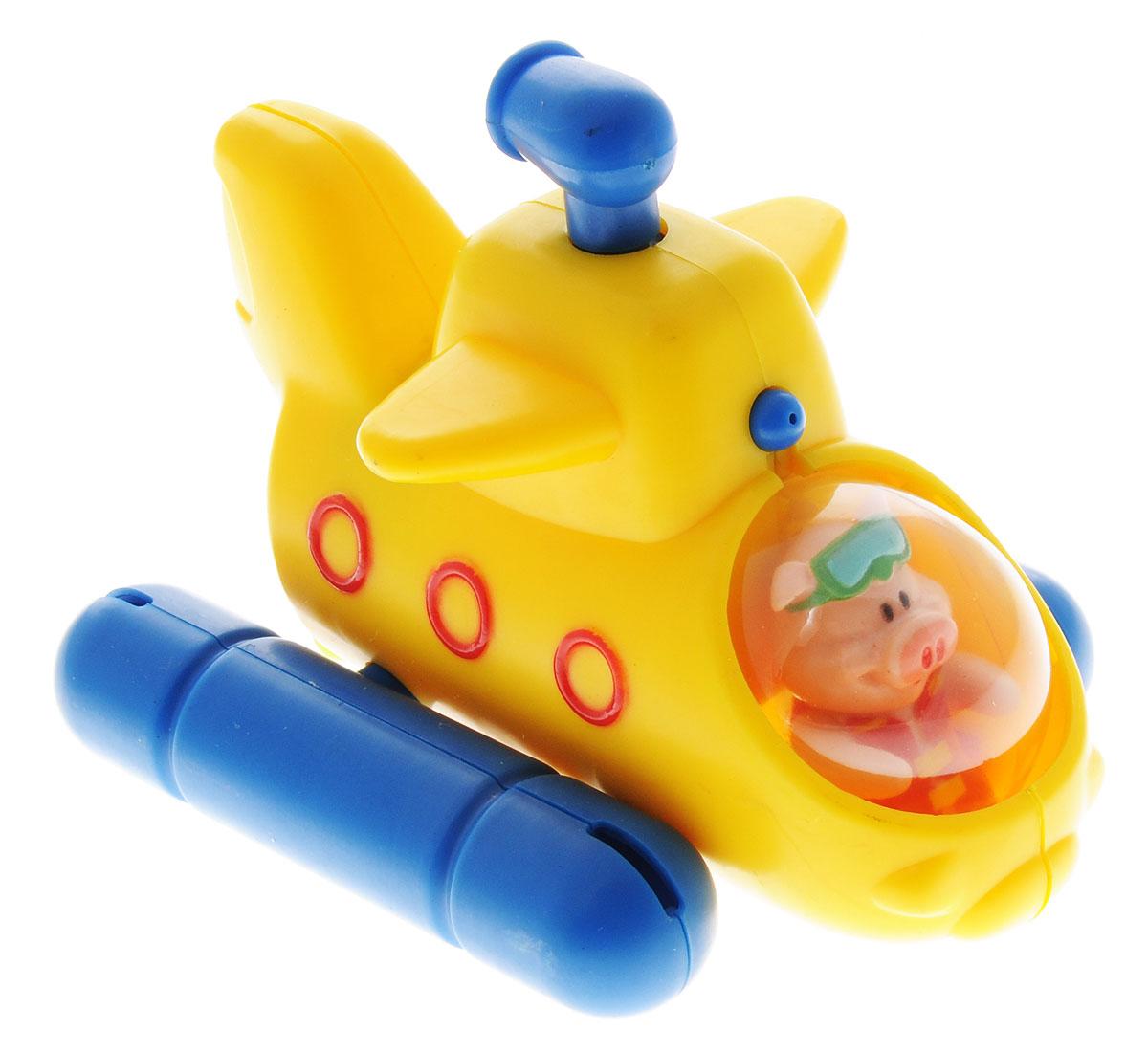 Жирафики Игрушка для ванной Лодка681122Игрушка для ванной Жирафики Лодка привлечет внимание вашего малыша и не позволит ему скучать. Игрушка выполнена в виде подводной лодки со свинкой в кабине. Игрушка имеет встроенный заводной механизм, обеспечивающий вращение винта на днище лодки, благодаря чему она плывет вперед и брызгается водой. Заводится игрушка с помощью декоративного элемента в виде перископа на крыше лодки. Выполненная из качественных материалов, игрушка будет радовать малыша долгое время. Игрушка способствует развитию мелкой моторики, сенсорного восприятия и воображения.