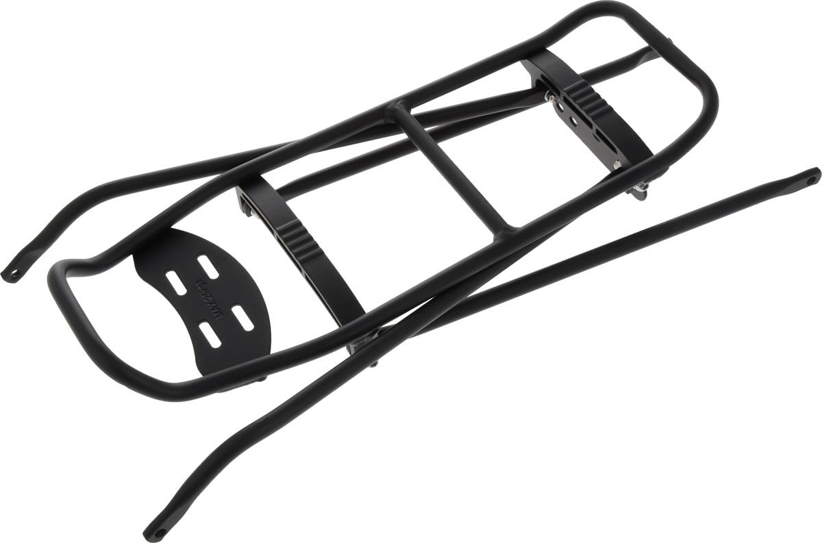 Багажник на велосипед Massload, цвет: матовый черный. CL-614CL-614 blk/12004Сборный велосипедный багажник Massload - это незаменимый аксессуар для любителей велосипедного туризма. Он с легкостью собирается с помощью монтажного комплекта и устанавливается на заднюю часть рамы. Багажник выполнен из высококачественного сплава, его вес составляет чуть меньше 800 грамм, при этом его максимальная грузоподъемность достигает 25 килограмм.