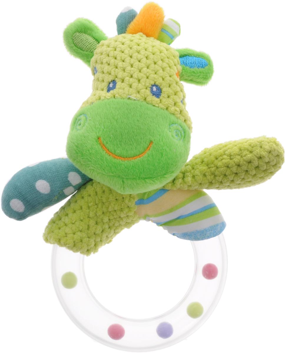 Жирафики Погремушка Зебра93806Забавная развивающая игрушка-погремушка Жирафики Зебра поднимет вашему малышу настроение и непременно вызовет улыбку! Игрушка выполнена из мягкого, приятного на ощупь материала различных фактур в виде зебры. Туловище зебры в виде пластикового прозрачного кольца содержит разноцветные шарики, которые перекатываются и весело гремят при встряхивании игрушки. Игрушка очень удобна для маленьких детских ручек. Малыш сможет ее держать, перекладывать из одной ручки в другую. Игрушка способствует развитию слухового, зрительного и эмоционального восприятия, тактильных ощущений, мелкой моторики.