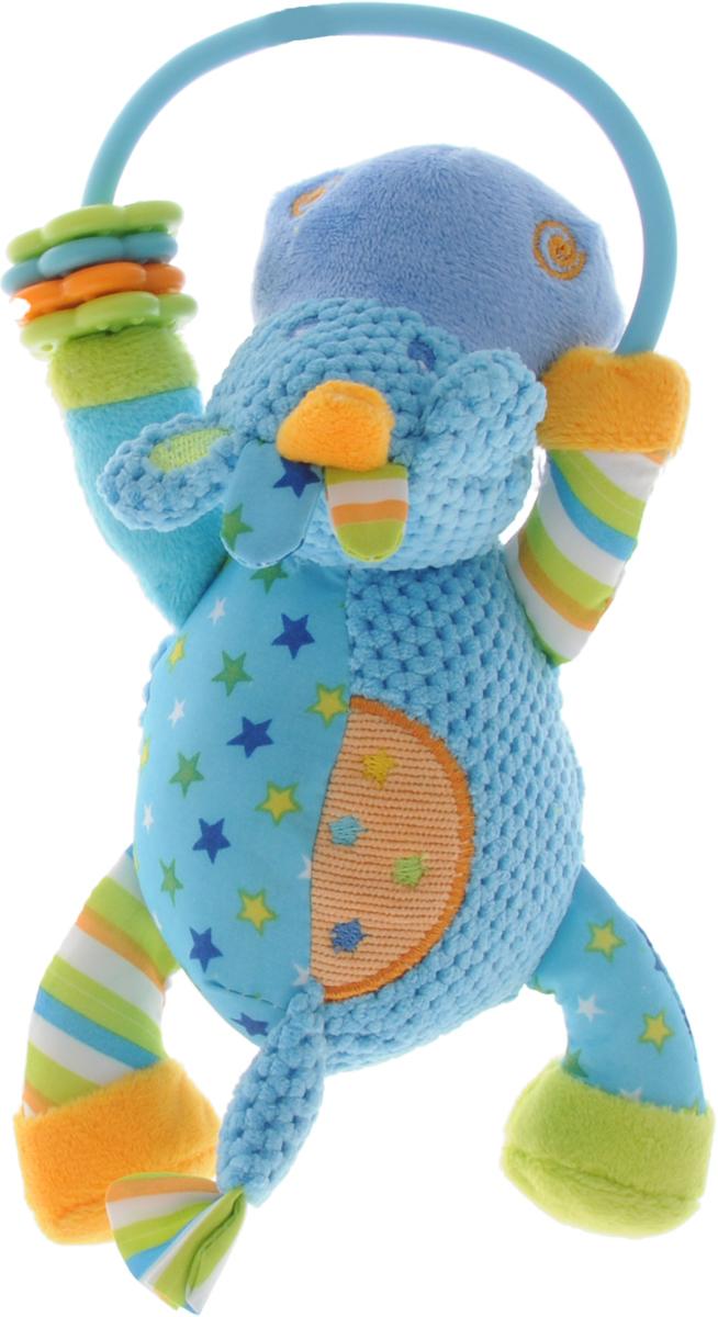 Жирафики Развивающая игрушка-погремушка Бегемотик