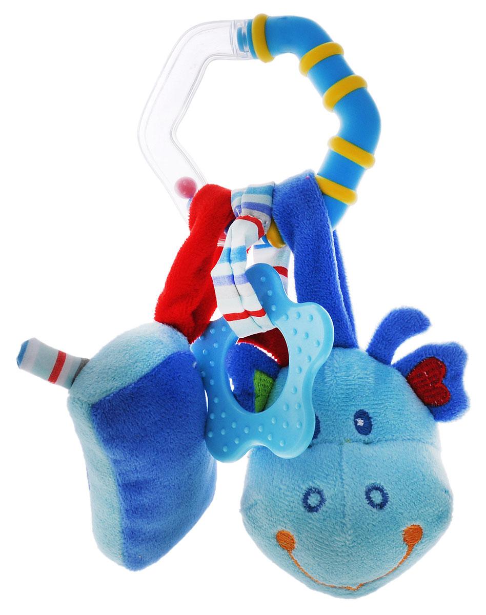 Жирафики Игрушка-подвеска Динозаврик 939289939289Игрушка-подвеска Жирафики Динозаврик объединяет в себе погремушку, пищалку и прорезыватель. Яркая расцветка и фактура привлекут внимание ребенка. Играя, малыш развивает слуховое восприятие, хватательный рефлекс, тактильные ощущения и мелкую моторику рук. Игрушку может прикрепить к кроватке, коляске или автокреслу. Игрушка очень удобна для маленьких детских ручек. Малыш сможет ее держать, перекладывать из одной ручки в другую.